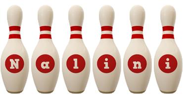 Nalini bowling-pin logo