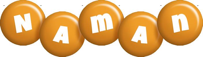 Naman candy-orange logo