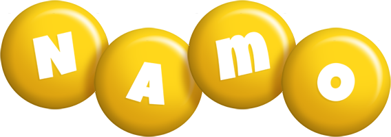 Namo candy-yellow logo