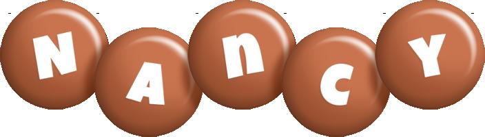 Nancy candy-brown logo