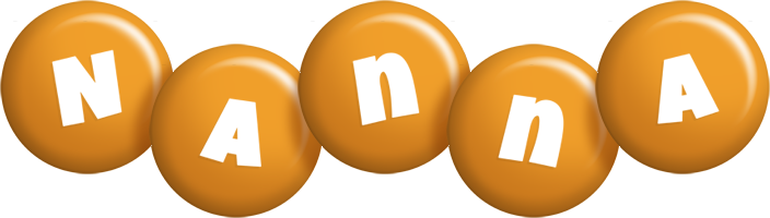 Nanna candy-orange logo