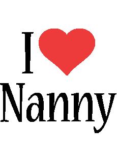 Nanny i-love logo