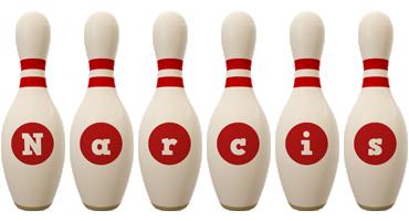 Narcis bowling-pin logo