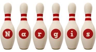 Nargis bowling-pin logo