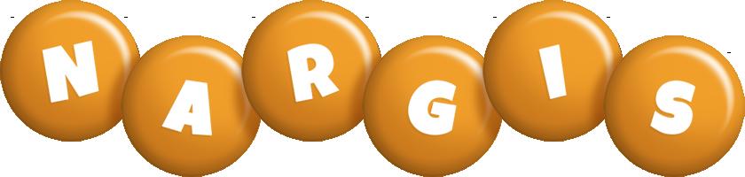 Nargis candy-orange logo