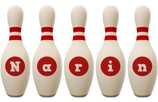 Narin bowling-pin logo