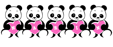 Narin love-panda logo