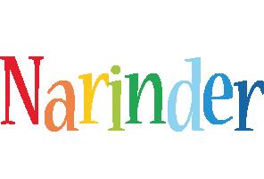 Narinder birthday logo