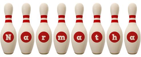 Narmatha bowling-pin logo