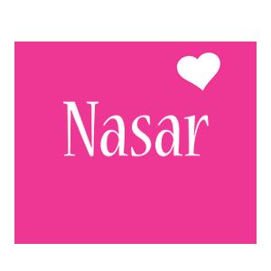 Nasar love-heart logo