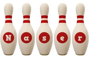 Naser bowling-pin logo