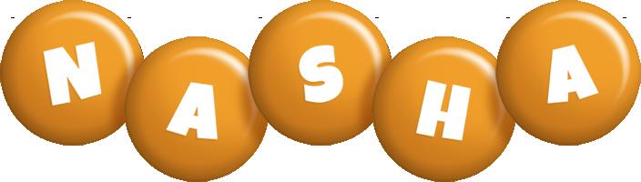 Nasha candy-orange logo