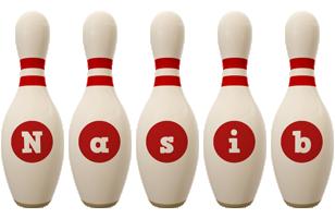 Nasib bowling-pin logo