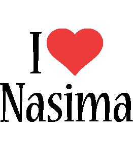 Nasima i-love logo