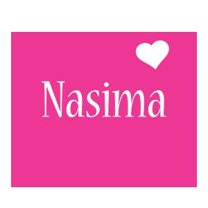 Nasima love-heart logo