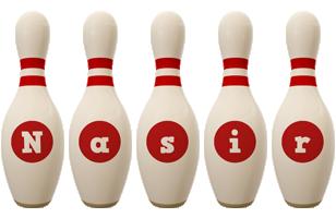 Nasir bowling-pin logo