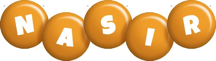 Nasir candy-orange logo