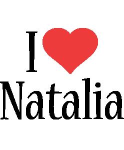 Natalia i-love logo