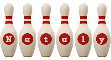 Nataly bowling-pin logo