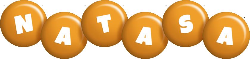Natasa candy-orange logo