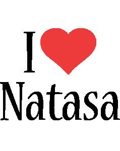 Natasa i-love logo