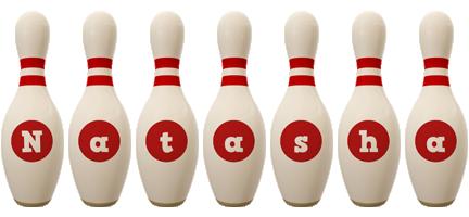 Natasha bowling-pin logo
