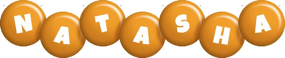 Natasha candy-orange logo