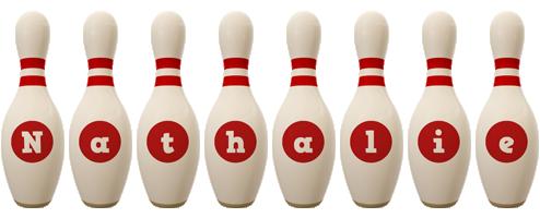 Nathalie bowling-pin logo