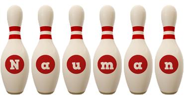 Nauman bowling-pin logo
