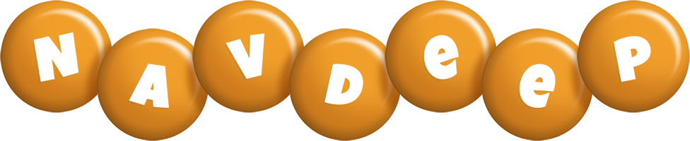 Navdeep candy-orange logo