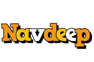 Navdeep cartoon logo