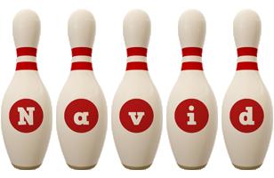 Navid bowling-pin logo