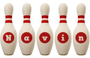 Navin bowling-pin logo