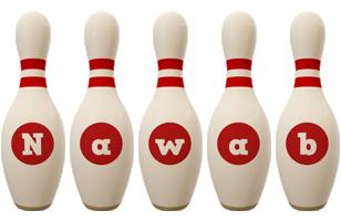 Nawab bowling-pin logo