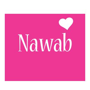 Nawab love-heart logo