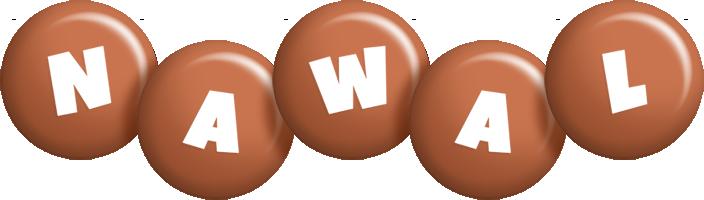 Nawal candy-brown logo