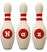Naz bowling-pin logo