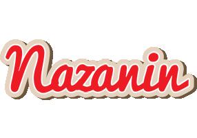 Nazanin chocolate logo