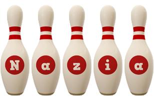 Nazia bowling-pin logo