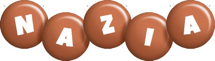 Nazia candy-brown logo