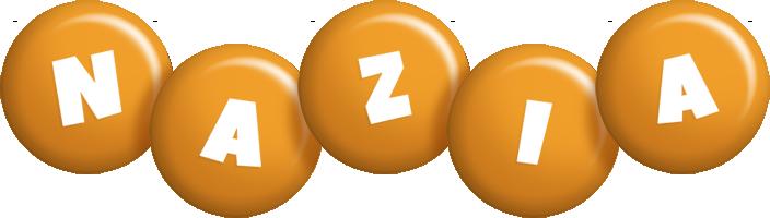 Nazia candy-orange logo