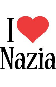 Nazia i-love logo