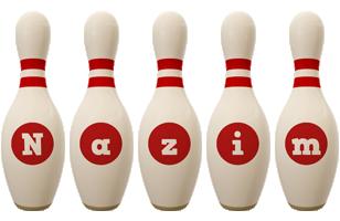 Nazim bowling-pin logo