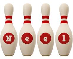 Neel bowling-pin logo