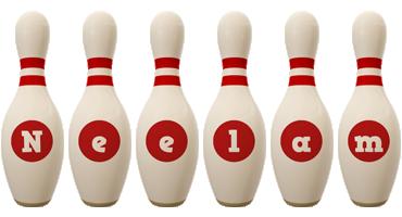 Neelam bowling-pin logo