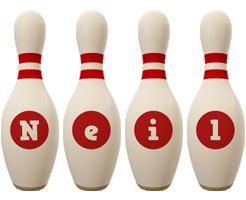 Neil bowling-pin logo