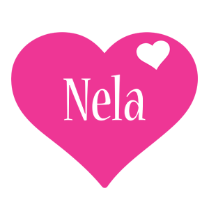 Nela love-heart logo