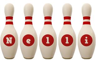 Nelli bowling-pin logo