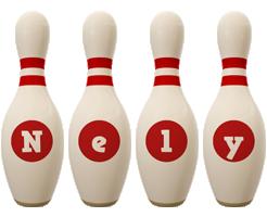 Nely bowling-pin logo
