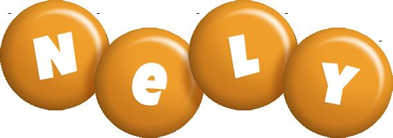 Nely candy-orange logo